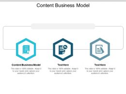 Content Business Model Ppt Powerpoint Presentation Show Picture Cpb