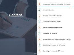Content Charter M1566 Ppt Powerpoint Presentation Slides Clipart Images