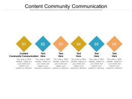Content Community Communication Ppt Powerpoint Presentation Layouts Visual Aids Cpb