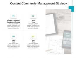 Content Community Management Strategy Ppt Powerpoint Presentation Styles Cpb