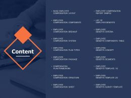 Content Compensation Plan Framework Ppt Powerpoint Presentation Gallery
