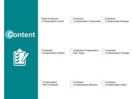 Content Compensation Structure L313 Ppt Powerpoint Presentation Aids