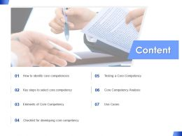 Content Competency Analysis Ppt Powerpoint Presentation Pictures Gallery