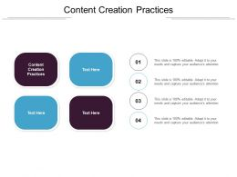 Content Creation Practices Ppt Powerpoint Presentation Deck Cpb