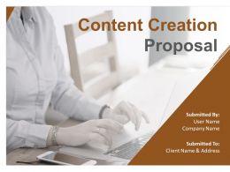 Content Creation Proposal Powerpoint Presentation Slides