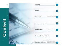 Content Current Investment Portfolio Ppt Powerpoint Presentation Visual Aids Professional