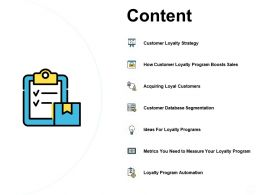 Content Customer Loyalty Strategy A482 Ppt Powerpoint Presentation Microsoft