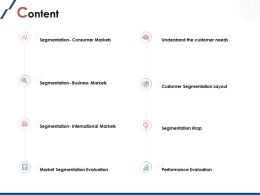 Content Customer Segmentation Layout Ppt Powerpoint Presentation File