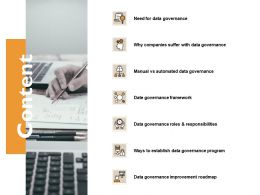 Content Date Governance Framework Ppt Powerpoint Presentation File Gridlines