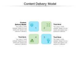 Content Delivery Model Ppt Powerpoint Presentation Outline Clipart Images Cpb