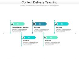 Content Delivery Teaching Ppt Powerpoint Presentation Inspiration Samples Cpb