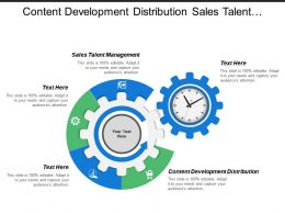 Content Development Distribution Sales Talent Management Sales Analytics