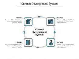 Content Development System Ppt Powerpoint Presentation Professional Graphics Pictures Cpb