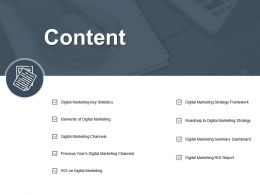 Content Digital Marketing Channels Ppt Powerpoint Presentation Gallery Icons