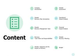 Content Disaster Assessment Ppt Powerpoint Presentation File Format