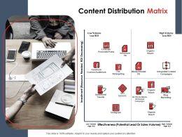 Content Distribution Matrix Ppt Powerpoint Presentation Gallery Outline