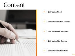 Content Distribution Plan Template Ppt Powerpoint Presentation Gallery Shapes