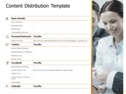 Content Distribution Template Table Ppt Powerpoint Presentation Gallery Sample