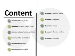 Content E Commerce Features Ppt Powerpoint Presentation File Themes