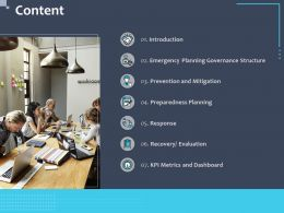 Content Emergency Metrics N241 Powerpoint Presentation Aids