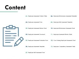 Content Employee Assessment Form Performance Assessment C719 Ppt Powerpoint Presentation Summary Microsoft
