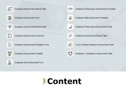 Content Employee Assessment Form Ppt Powerpoint Presentation Infographic Template Layouts