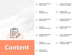 Content Employee Assessment I279 Ppt Powerpoint Presentation Professional Tutorials