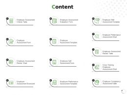 Content Employee Assessment Performance Ppt Powerpoint Presentation File Maker