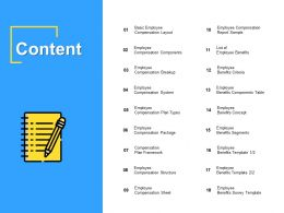 Content Employee Compensation I193 Ppt Powerpoint Presentation Layouts Elements