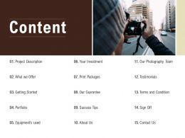 Content Equipments Team L544 Ppt Powerpoint Presentation Good