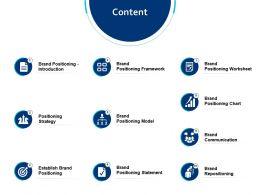 Content Establish Brand Positioning Ppt Powerpoint Presentation File Slides
