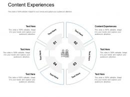 Content Experiences Ppt Powerpoint Presentation Icon Slide Cpb