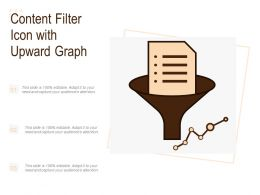 Content Filter Icon With Upward Graph