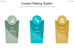 Content Filtering System Ppt Powerpoint Presentation Show Slides Cpb