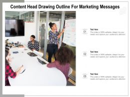 Content Head Drawing Outline For Marketing Messages