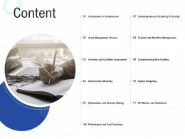 Content Infrastructure Construction Planning And Management Ppt Summary