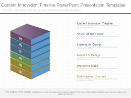 Content Innovation Timeline Powerpoint Presentation Templates