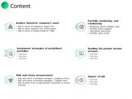 Content Investment Strategies I331 Ppt Powerpoint Presentation Rules