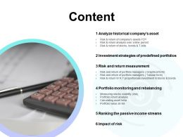 Content Investment Strategies Ppt Powerpoint Presentation Visual Aids Gallery