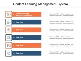Content Learning Management System Ppt Powerpoint Presentation Gallery Cpb