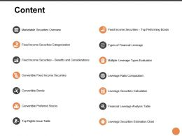 Content Leverage Securities L245 Ppt Powerpoint Presentation Slides