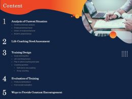 Content Life Coaching Need Assessment Ppt Powerpoint Presentation Visual Aids Slides