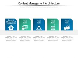 Content Management Architecture Ppt Powerpoint Presentation Professional Information Cpb
