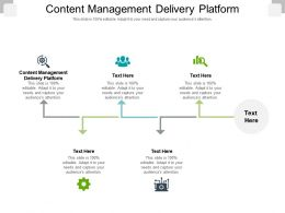 Content Management Delivery Platform Ppt Powerpoint Presentation Ideas Gallery Cpb