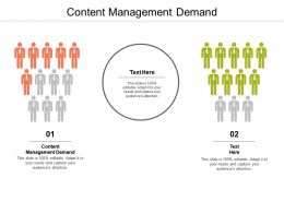 Content Management Demand Ppt Powerpoint Presentation Model Icons Cpb