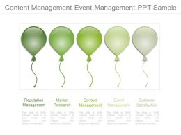 Content Management Event Management Ppt Sample
