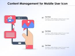 Content Management For Mobile User Icon