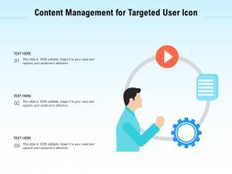 Content Management For Targeted User Icon