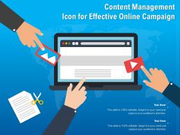 Content Management Icon For Effective Online Campaign