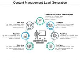 Content Management Lead Generation Ppt Powerpoint Presentation Professional Model Cpb